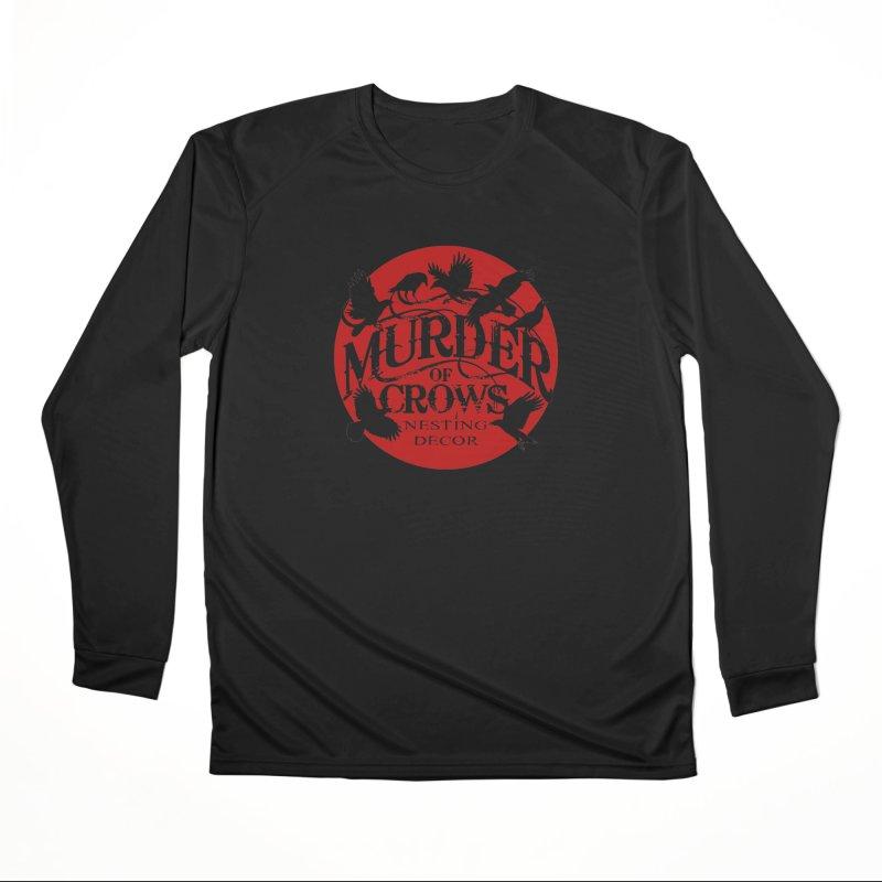 Murder Of Crows Nesting Decor full logo Men's Longsleeve T-Shirt by Murder of Crows Nesting Decor Artist Shop