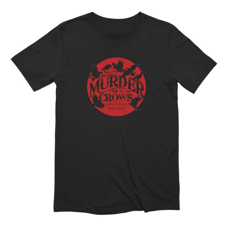 Murder Of Crows Nesting Decor full logo Men's T-Shirt by Murder of Crows Nesting Decor Artist Shop