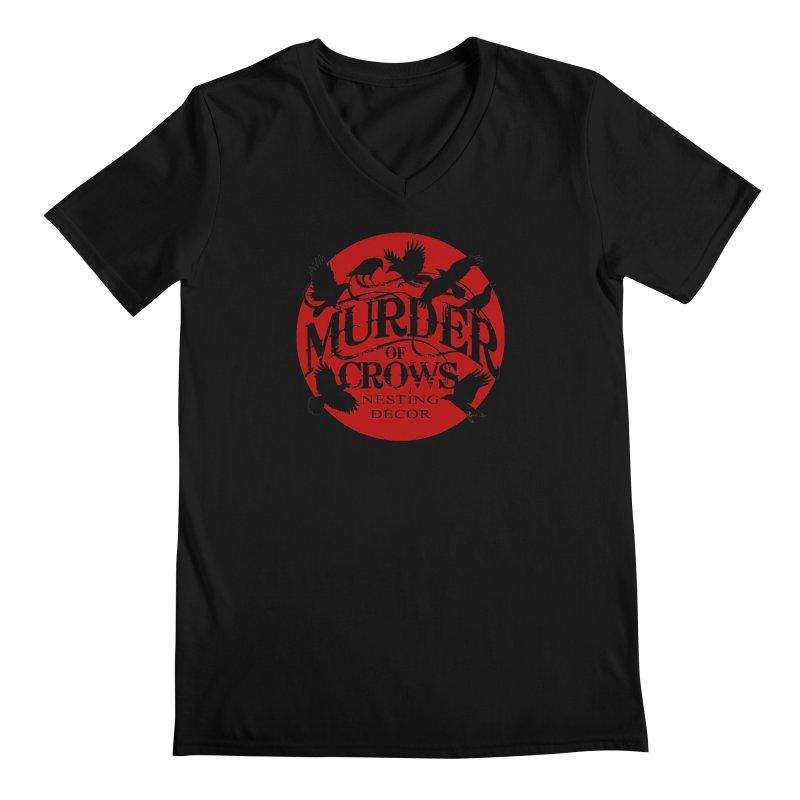 Murder Of Crows Nesting Decor full logo Men's V-Neck by Murder of Crows Nesting Decor Artist Shop