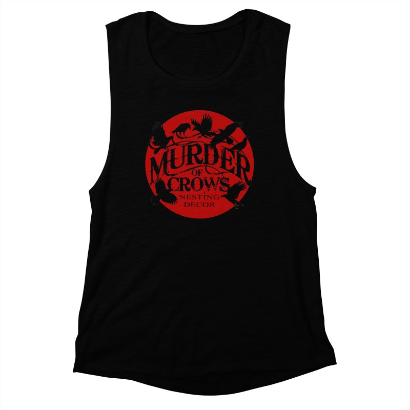 Murder Of Crows Nesting Decor full logo Women's Tank by Murder of Crows Nesting Decor Artist Shop