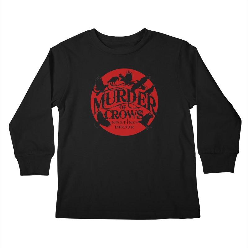 Murder Of Crows Nesting Decor full logo Kids Longsleeve T-Shirt by Murder of Crows Nesting Decor Artist Shop