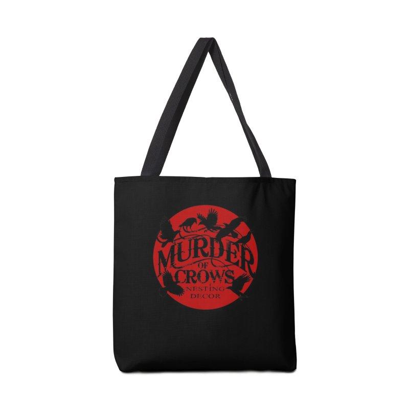 Murder Of Crows Nesting Decor full logo Accessories Bag by Murder of Crows Nesting Decor Artist Shop