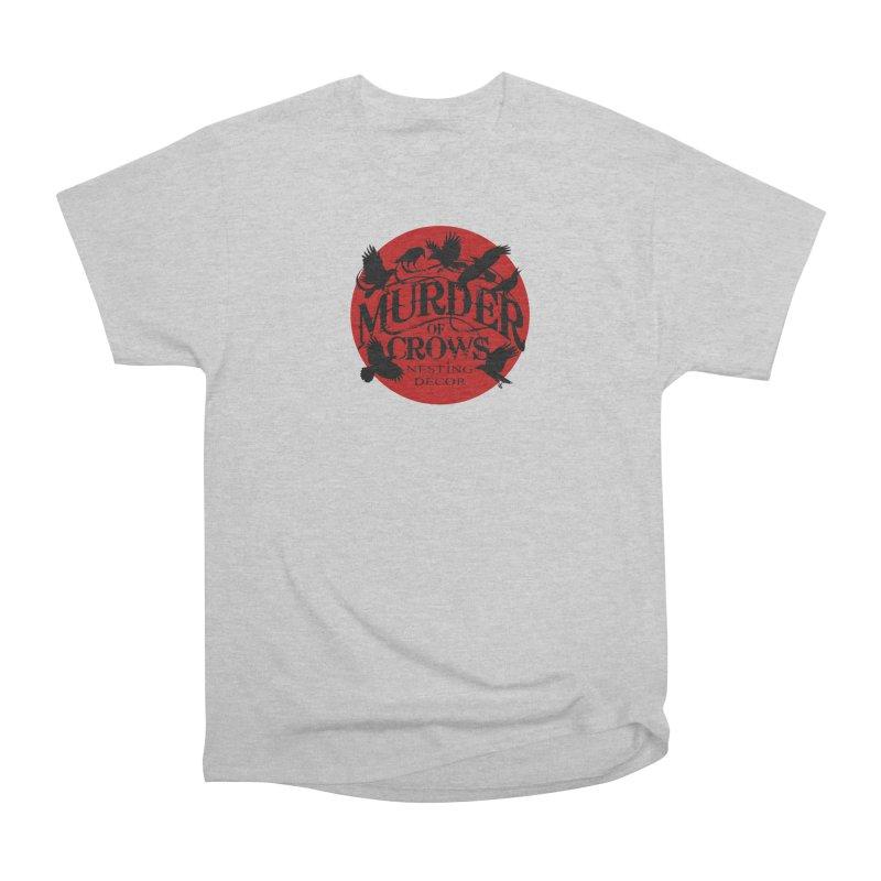 MOC Logo on White Men's T-Shirt by Murder of Crows Nesting Decor Artist Shop