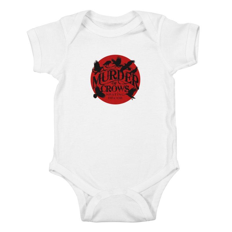 MOC Logo on White Kids Baby Bodysuit by Murder of Crows Nesting Decor Artist Shop