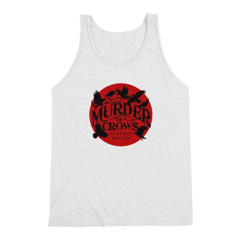 MOC Logo on White Men's Tank by Murder of Crows Nesting Decor Artist Shop