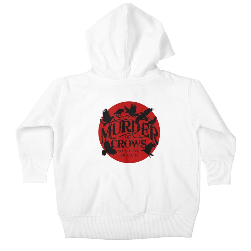 MOC Logo on White Kids Baby Zip-Up Hoody by Murder of Crows Nesting Decor Artist Shop