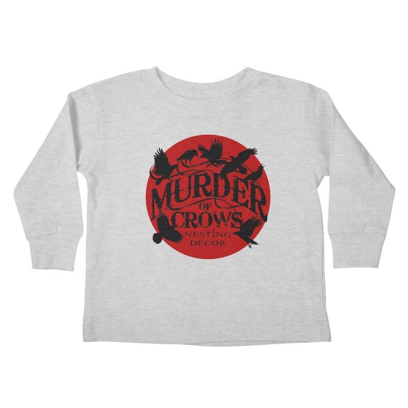 MOC Logo on White Kids Toddler Longsleeve T-Shirt by Murder of Crows Nesting Decor Artist Shop
