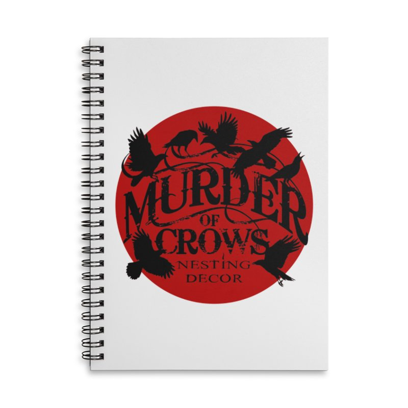 MOC Logo on White Accessories Notebook by Murder of Crows Nesting Decor Artist Shop