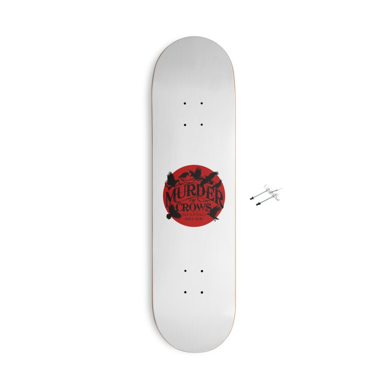MOC Logo on White Accessories Skateboard by Murder of Crows Nesting Decor Artist Shop
