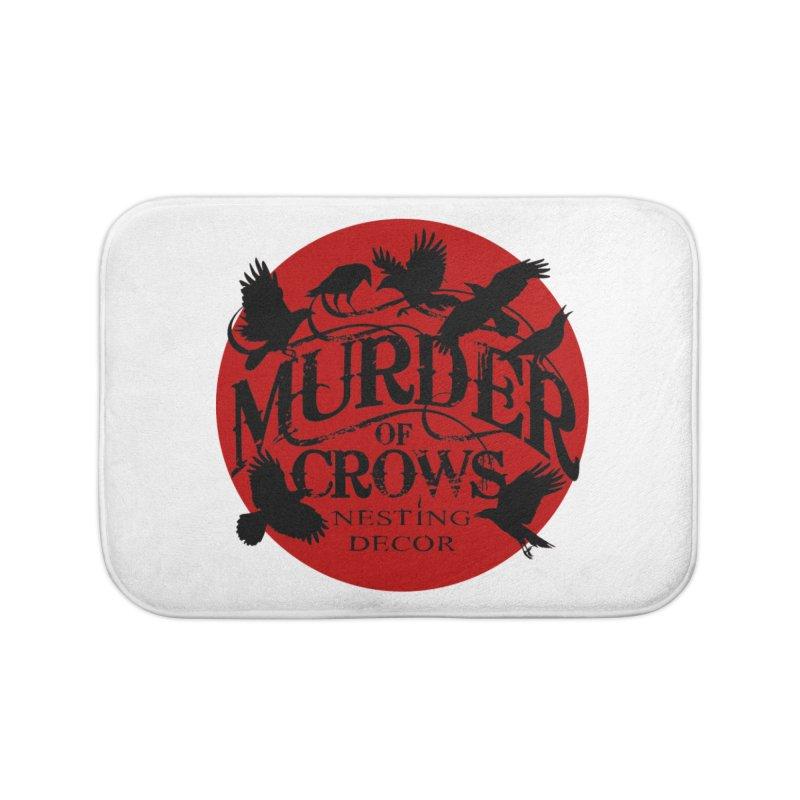 MOC Logo on White Home Bath Mat by Murder of Crows Nesting Decor Artist Shop