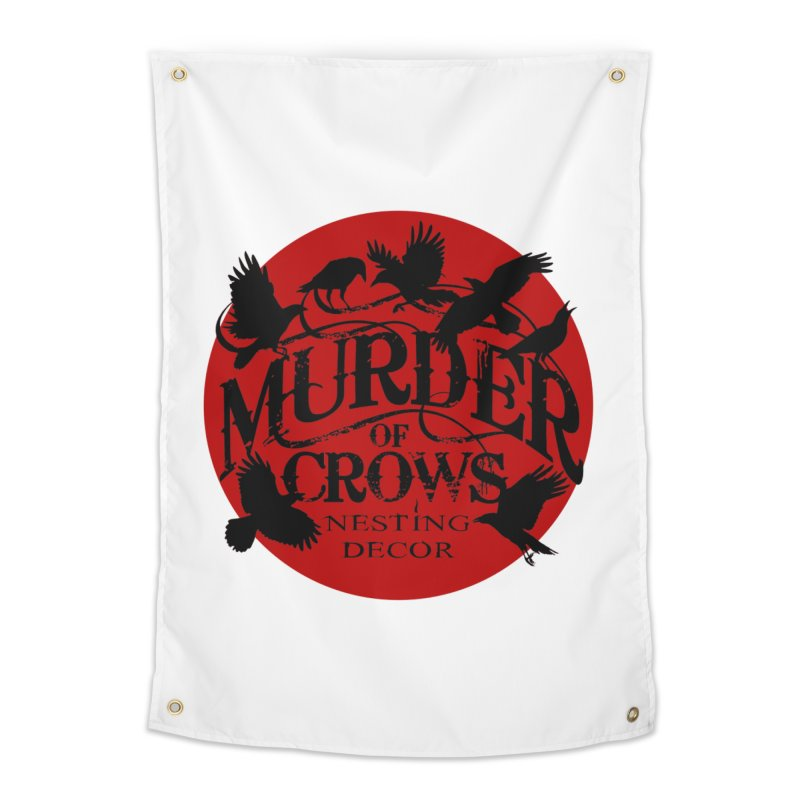 MOC Logo on White Home Tapestry by Murder of Crows Nesting Decor Artist Shop
