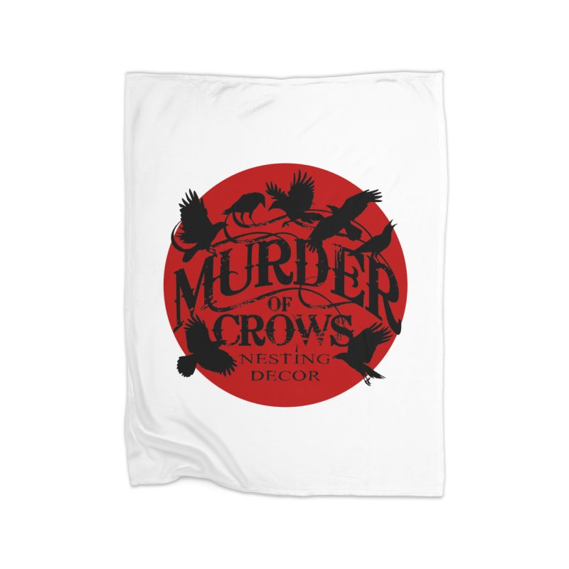 MOC Logo on White Home Blanket by Murder of Crows Nesting Decor Artist Shop