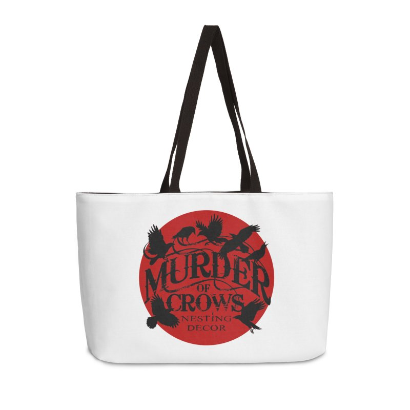 MOC Logo on White Accessories Bag by Murder of Crows Nesting Decor Artist Shop
