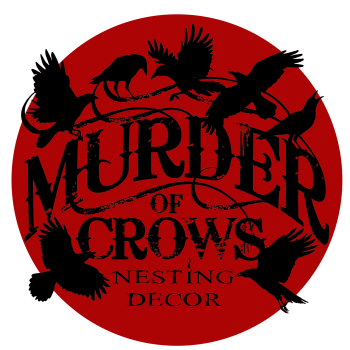 Murder of Crows Nesting Decor Artist Shop Logo