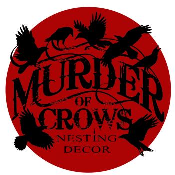 Murder of Crows Nesting Decor Artist Shop Logo