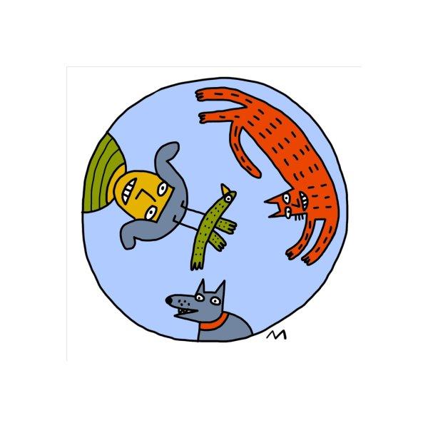 image for cat, woman, dog, bird