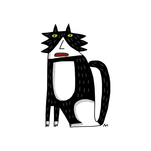 image for fluffy tuxedo cat