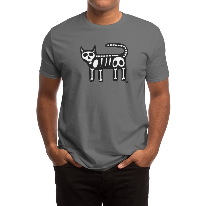 Cat skeleton Men's T-Shirt by Murton Artist Shop