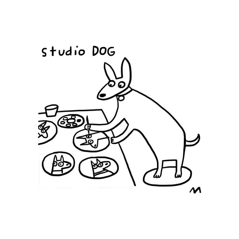 studio dog Men's T-Shirt by Murton Artist Shop