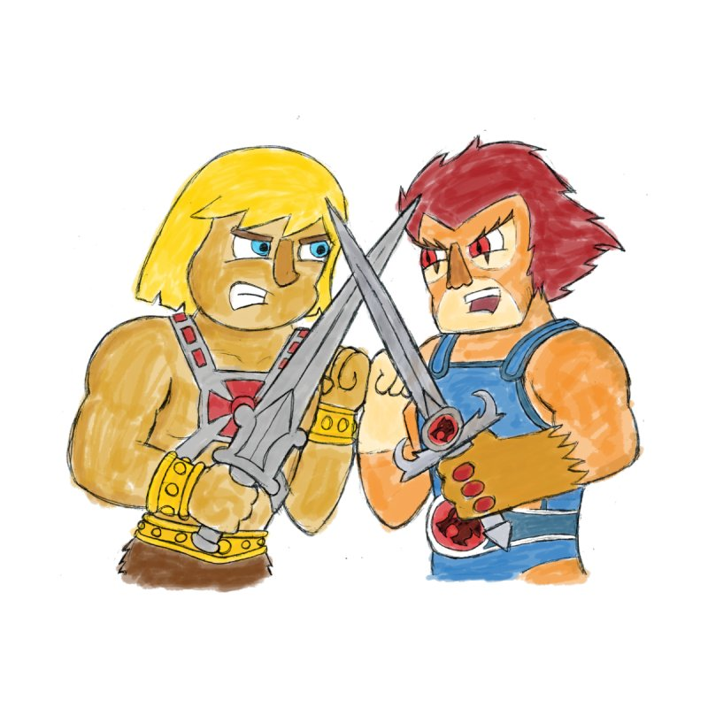 He-Man VS Lion-O by My Pal Mark