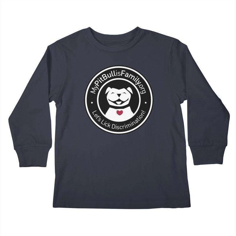 MPBIF Dog Logo Kids Longsleeve T-Shirt by My Pit Bull is Family Shop