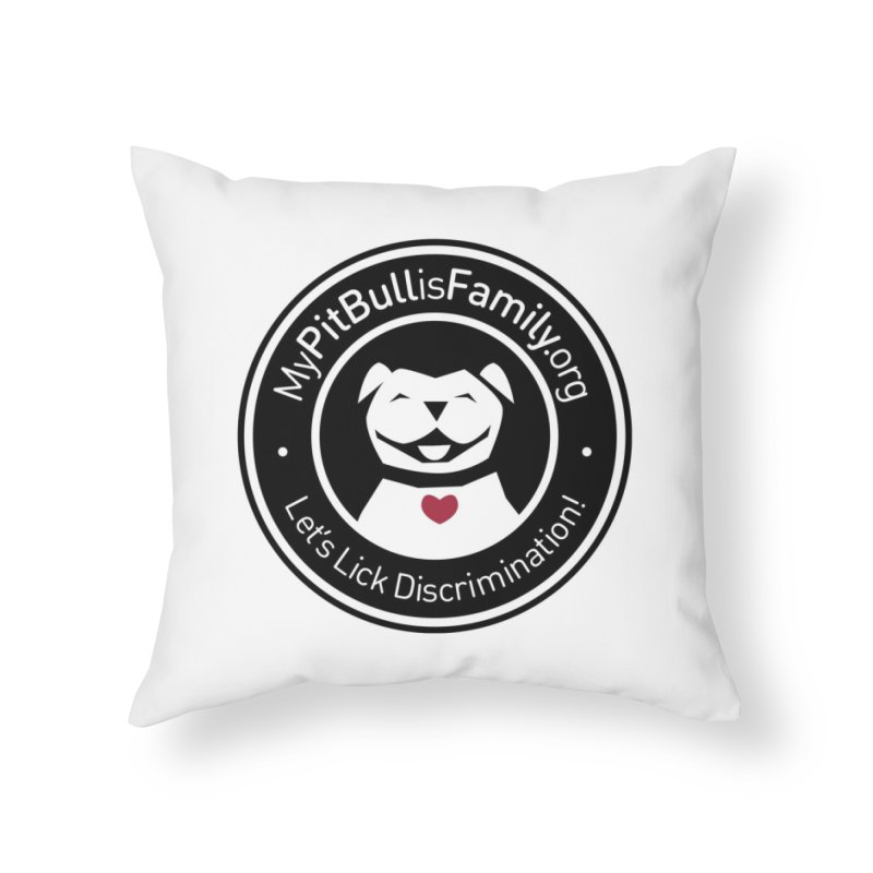 MPBIF Dog Logo Home Throw Pillow by My Pit Bull is Family Shop