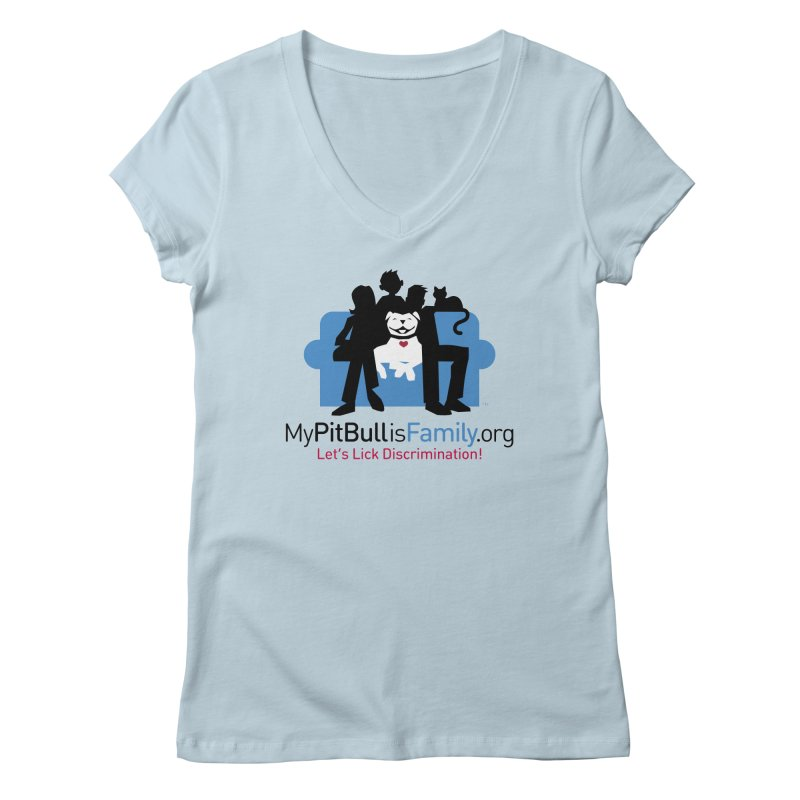 MPBIF Couch Logo Women's V-Neck by My Pit Bull is Family Shop