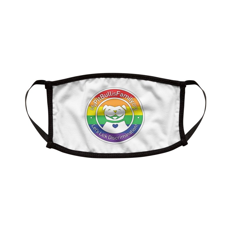 MPBIF Pride Logo Accessories Face Mask by My Pit Bull is Family Shop