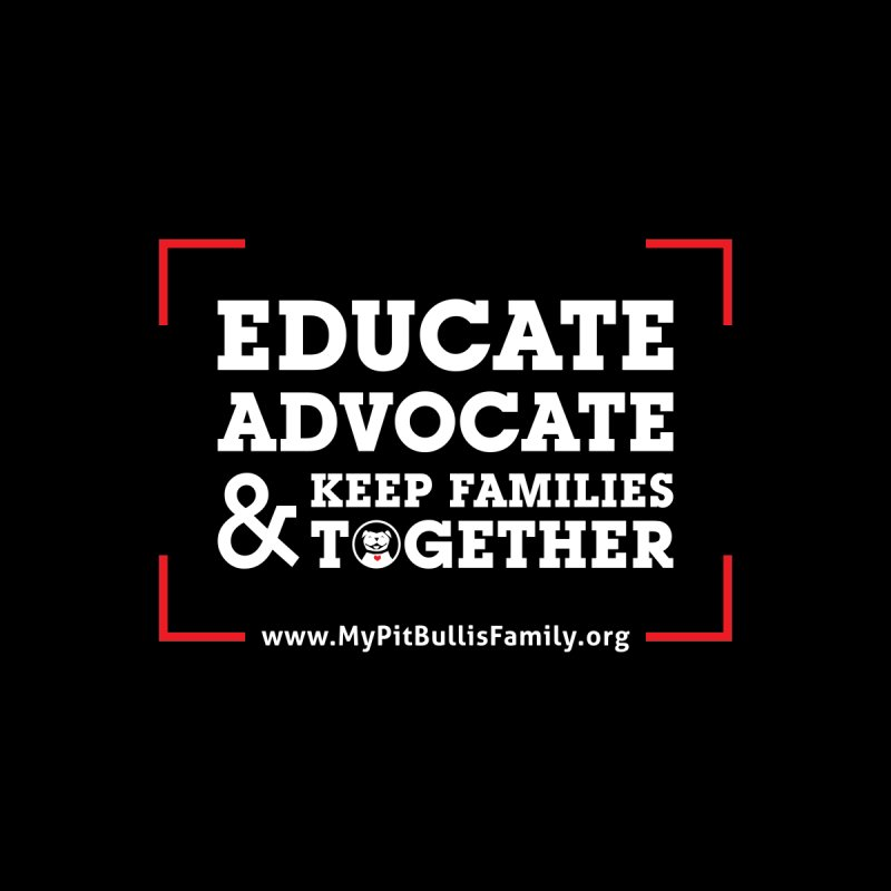 MPBIF Educate, Advocate, & Keep Families Together Kids Pullover Hoody by My Pit Bull is Family Shop