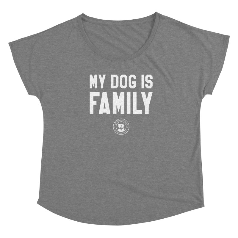 MPBIF My Dog is Family Women's Scoop Neck by My Pit Bull is Family Shop