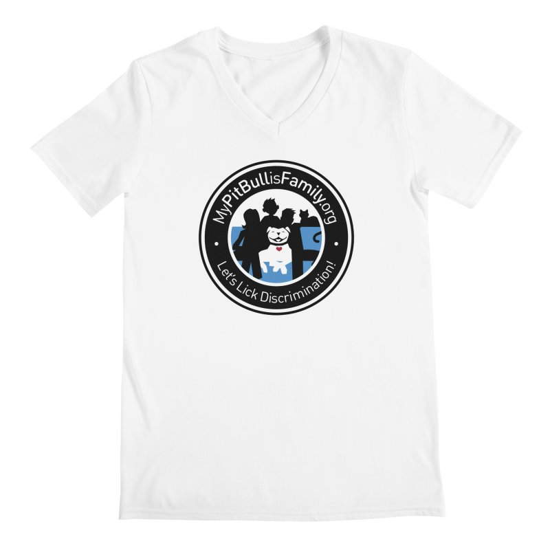 MPBIF Family Logo Men's V-Neck by My Pit Bull is Family Shop