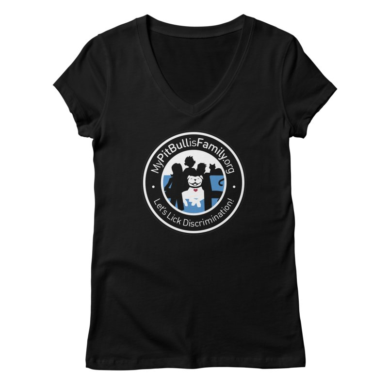 MPBIF Family Logo Women's V-Neck by My Pit Bull is Family Shop