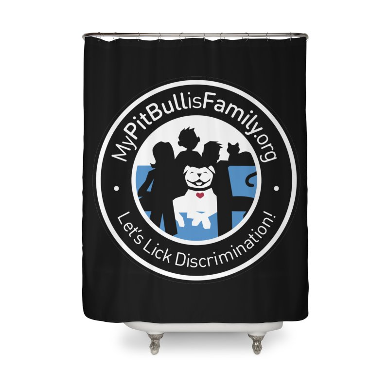 MPBIF Family Logo Home Shower Curtain by My Pit Bull is Family Shop