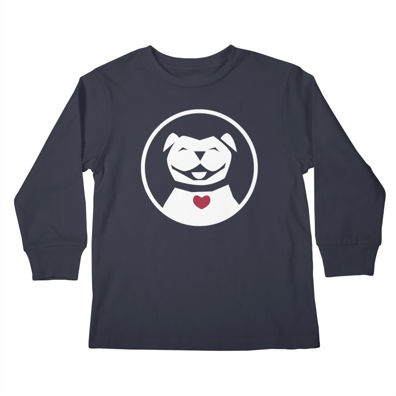 MPBIF Dog in Circle Kids Longsleeve T-Shirt by My Pit Bull is Family Shop