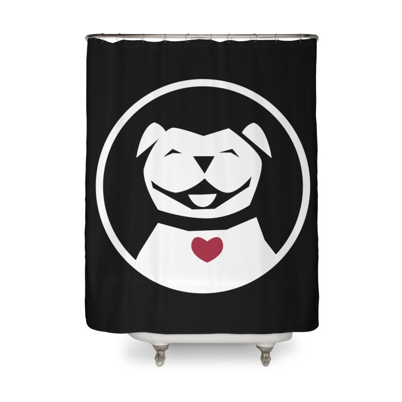 MPBIF Dog in Circle Home Shower Curtain by My Pit Bull is Family Shop