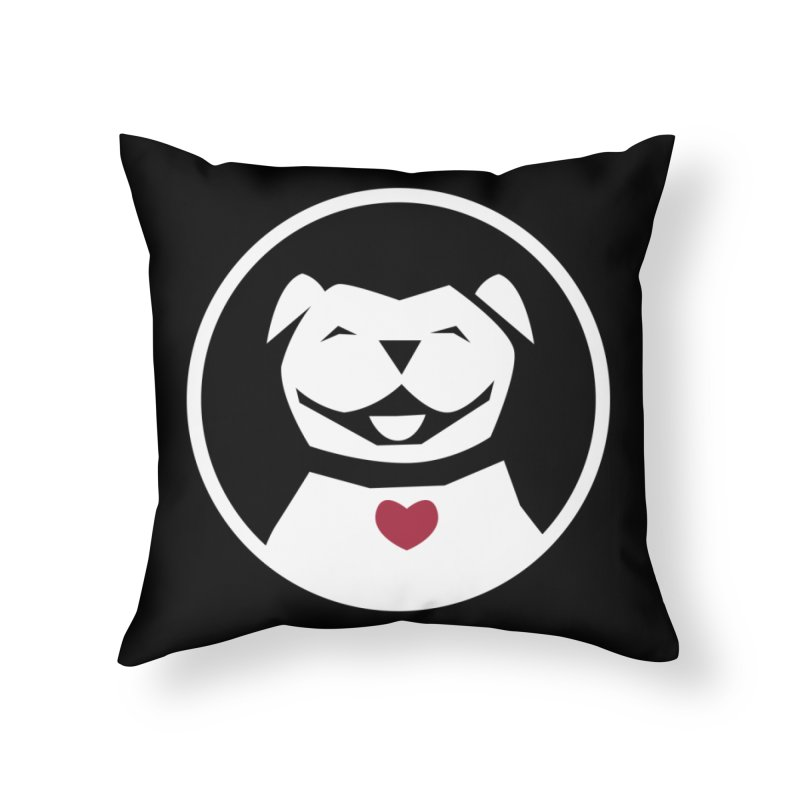 MPBIF Dog in Circle Home Throw Pillow by My Pit Bull is Family Shop