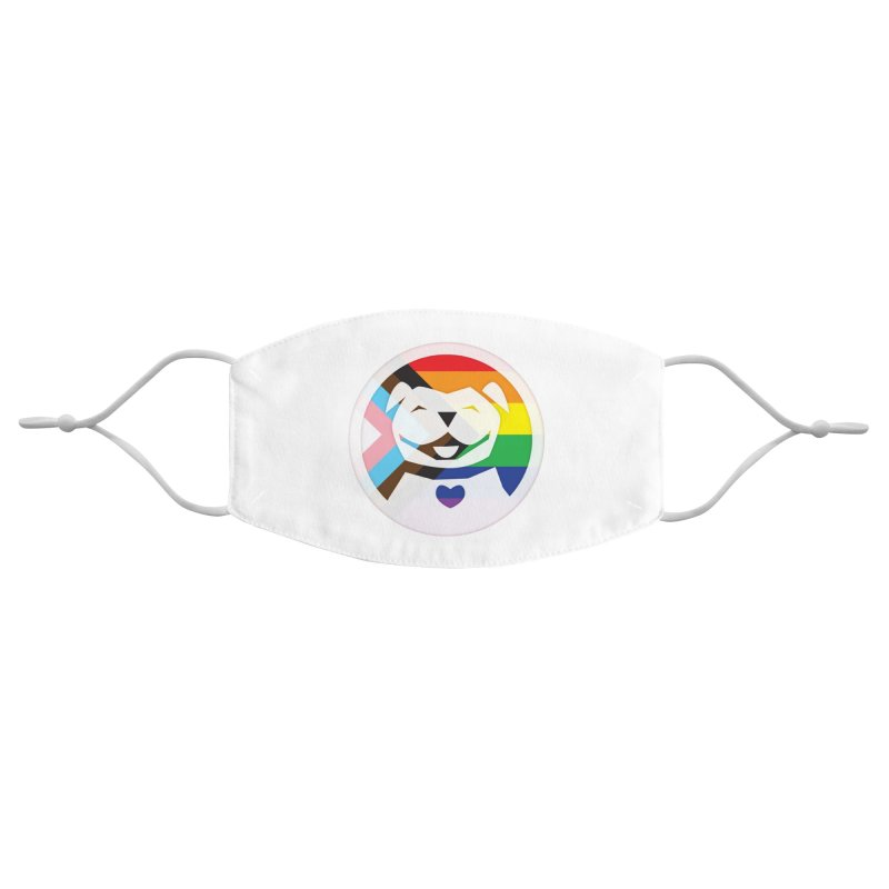 MPBIF Progress Pride Round Accessories Face Mask by My Pit Bull is Family Shop
