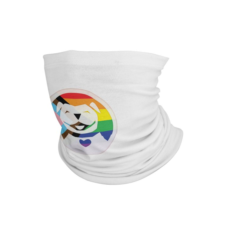 MPBIF Progress Pride Round Accessories Neck Gaiter by My Pit Bull is Family Shop