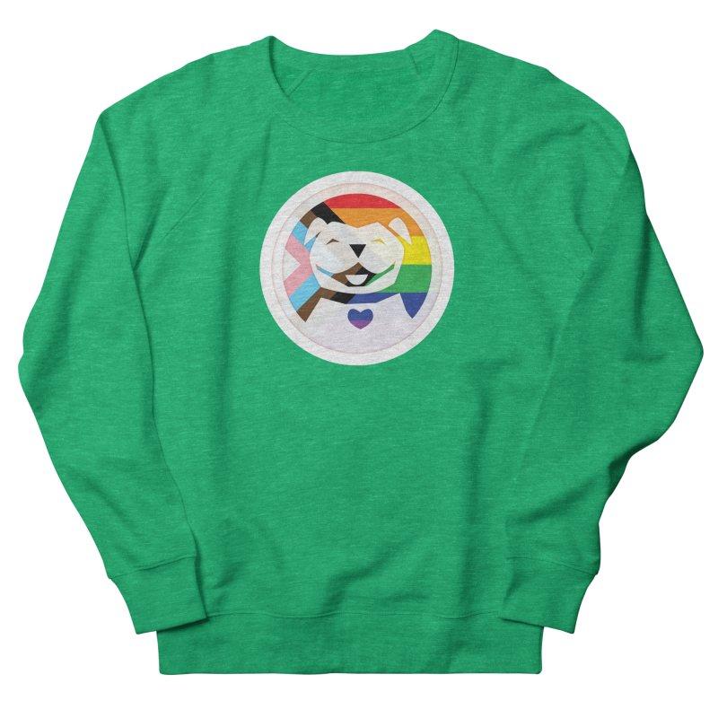 MPBIF Progress Pride Round Women's Sweatshirt by My Pit Bull is Family Shop