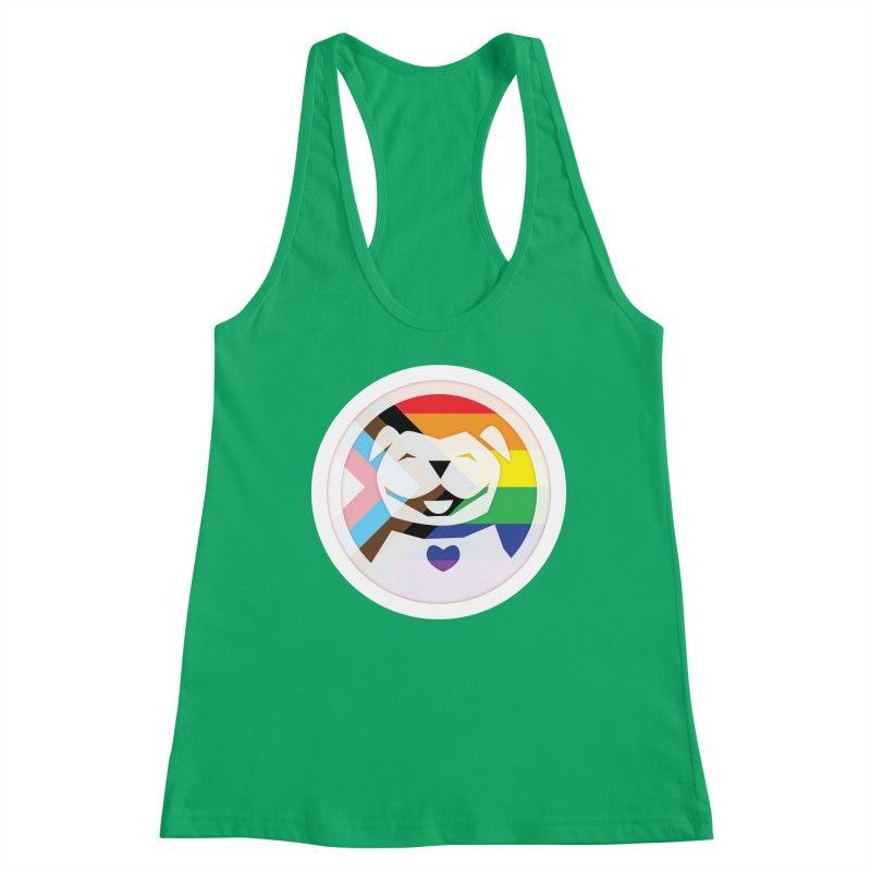 MPBIF Progress Pride Round Women's Tank by My Pit Bull is Family Shop