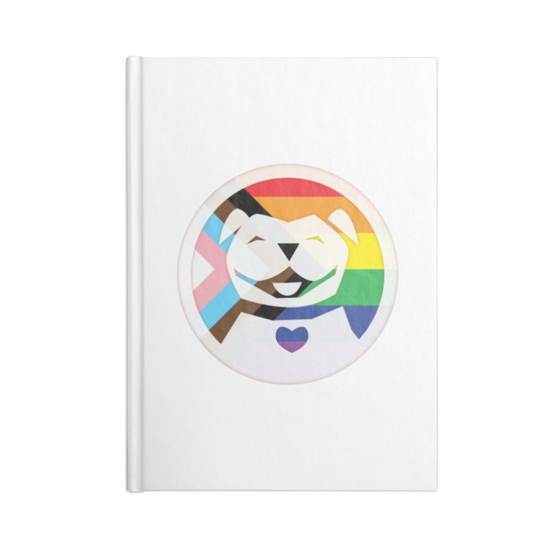 MPBIF Progress Pride Round Accessories Notebook by My Pit Bull is Family Shop