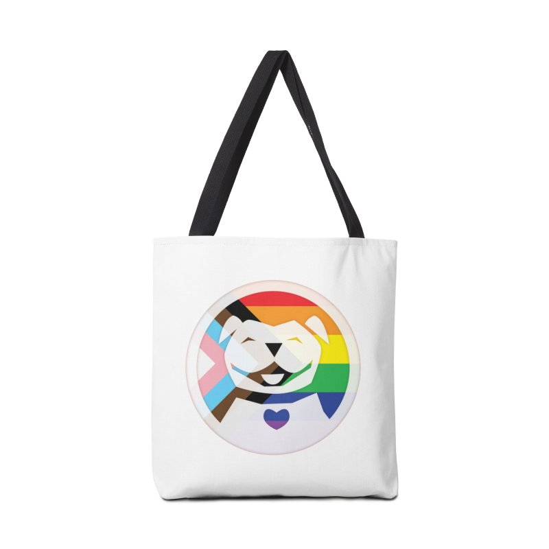 MPBIF Progress Pride Round Accessories Bag by My Pit Bull is Family Shop