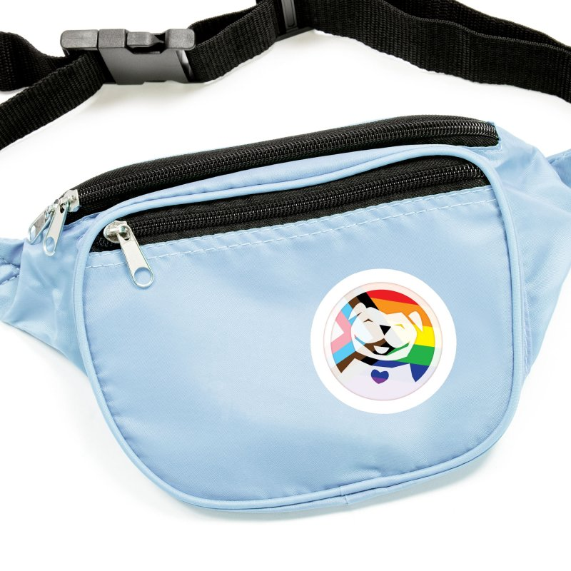 MPBIF Progress Pride Round Accessories Sticker by My Pit Bull is Family Shop