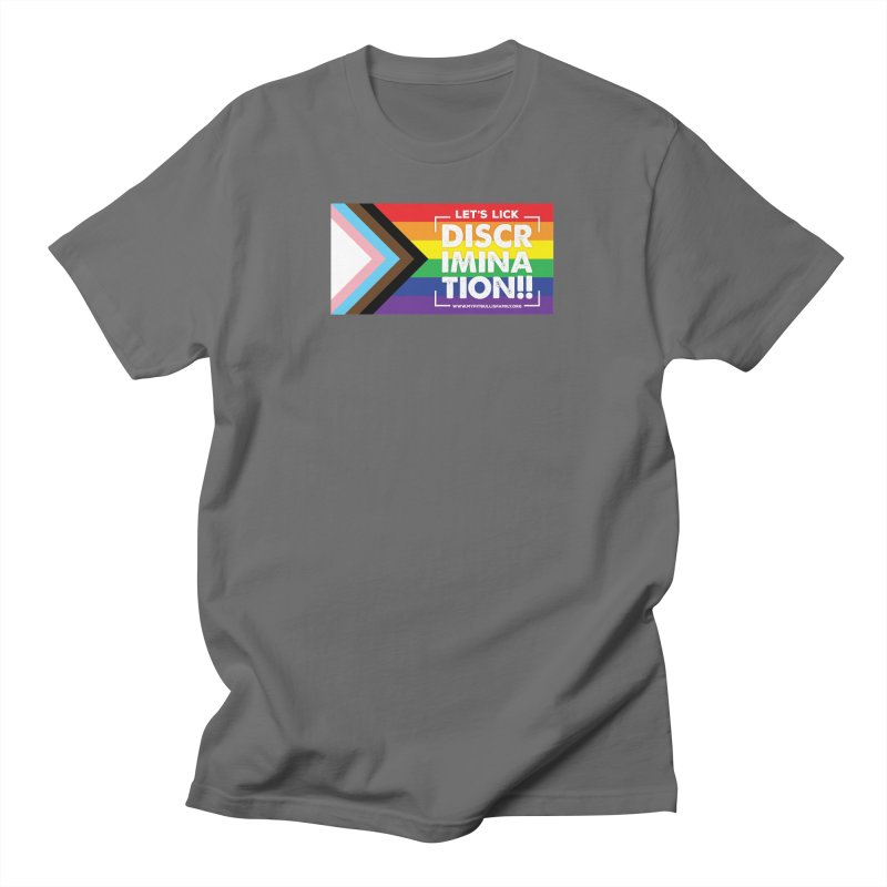 MPBIF Progress Pride Rectangle Men's T-Shirt by My Pit Bull is Family Shop