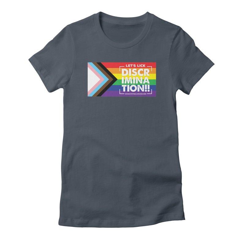 MPBIF Progress Pride Rectangle Women's T-Shirt by My Pit Bull is Family Shop