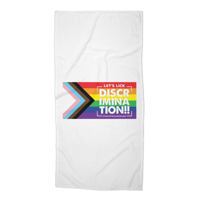 MPBIF Progress Pride Rectangle Accessories Beach Towel by My Pit Bull is Family Shop