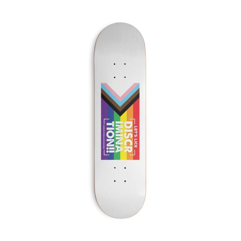 MPBIF Progress Pride Rectangle Accessories Skateboard by My Pit Bull is Family Shop