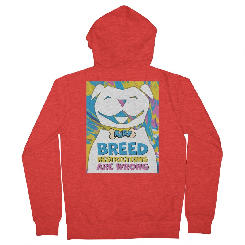 MPBIF & RARF Breed Restrictions Are Wrong Campaign Women's Zip-Up Hoody by My Pit Bull is Family Shop