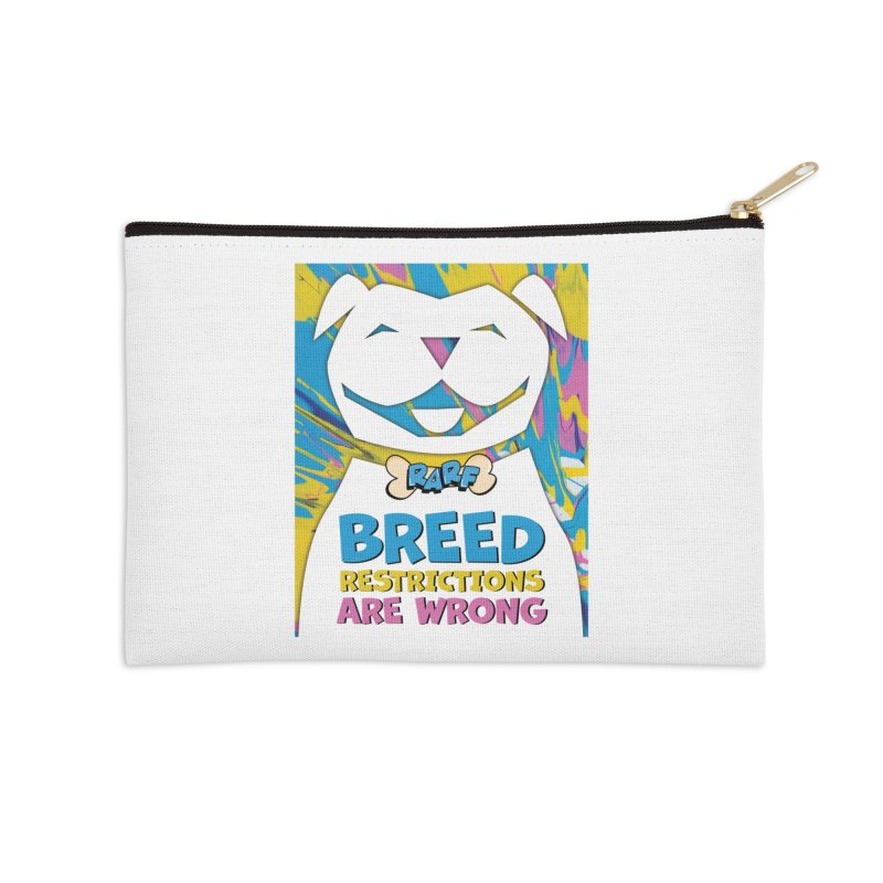 MPBIF & RARF Breed Restrictions Are Wrong Campaign Accessories Zip Pouch by My Pit Bull is Family Shop