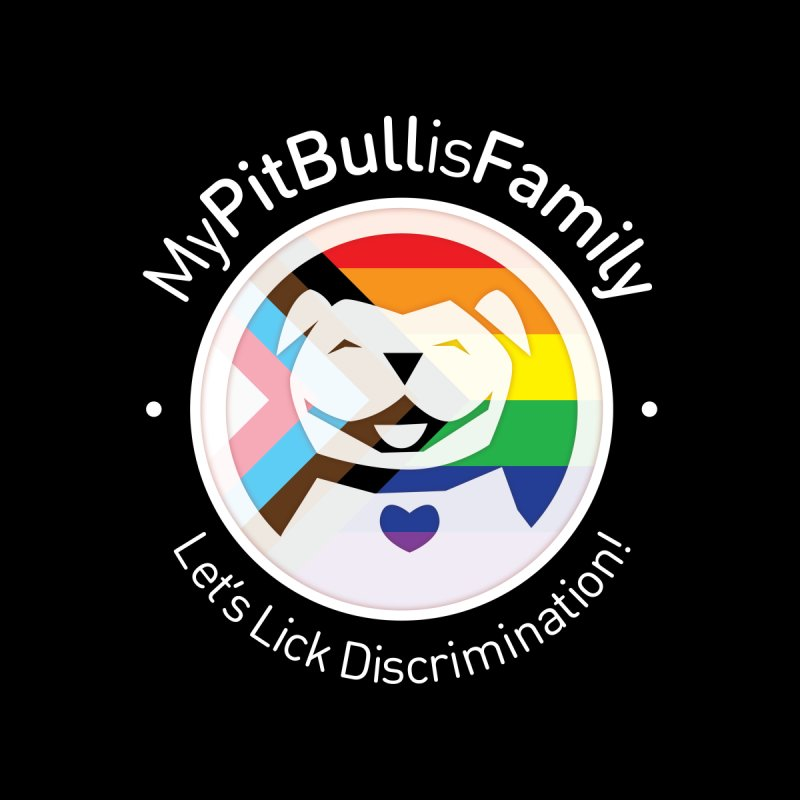 MPBIF Progress Pride Round with Text Women's Scoop Neck by My Pit Bull is Family Shop